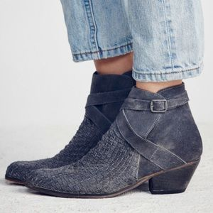 FREE PEOPLE suede ankle boots